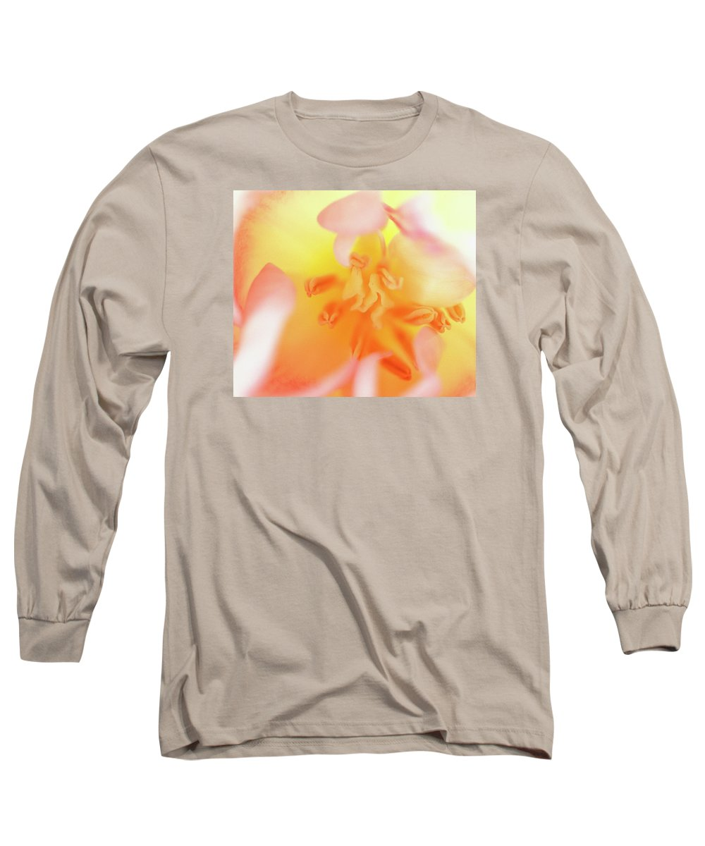Internal Beauty Of A Tulip Long Sleeve T-Shirt featuring the photograph From The Heart by Bill Morgenstern