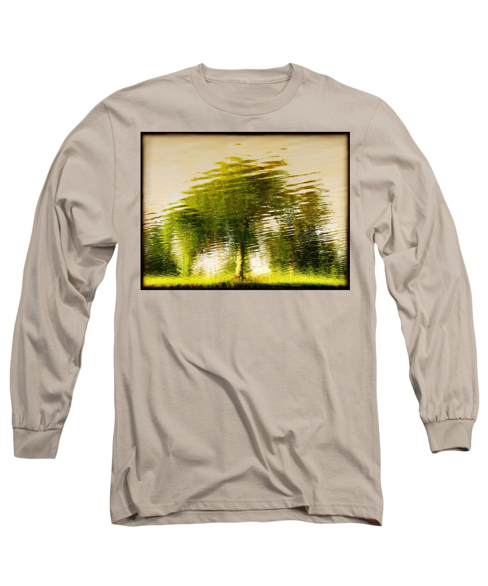 Abstract Long Sleeve T-Shirt featuring the photograph Gentle Sun by Dana DiPasquale