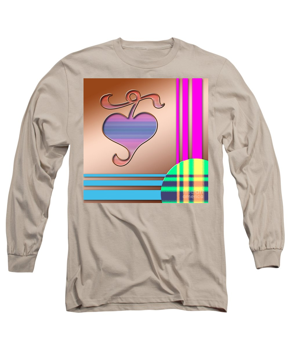 Clay Long Sleeve T-Shirt featuring the digital art Gift Of Love by Clayton Bruster