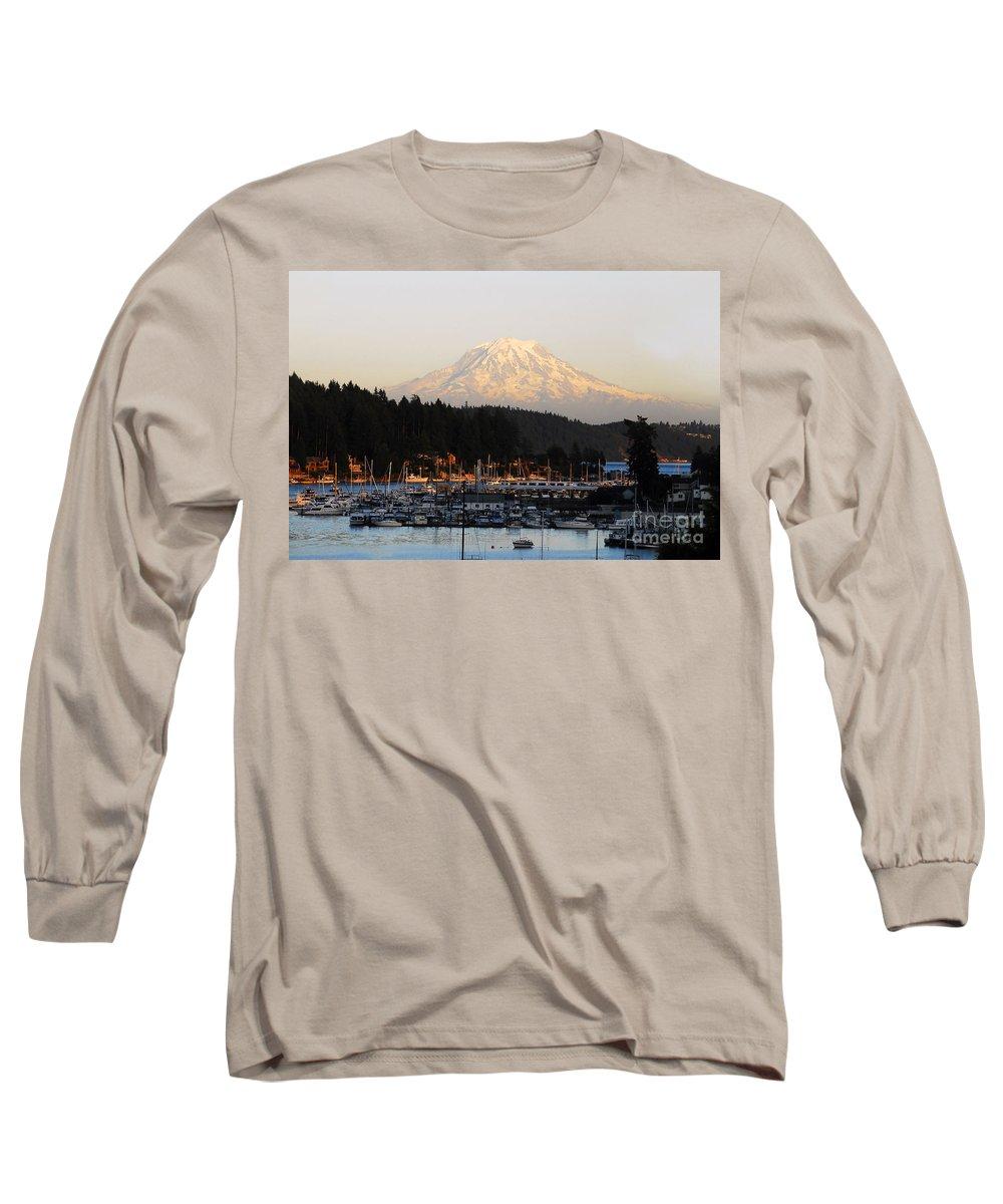 Gig Harbor Washington Long Sleeve T-Shirt featuring the photograph Gig Harbor by David Lee Thompson