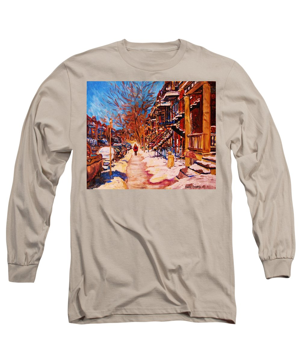 Children Long Sleeve T-Shirt featuring the painting Girl In The Red Jacket by Carole Spandau