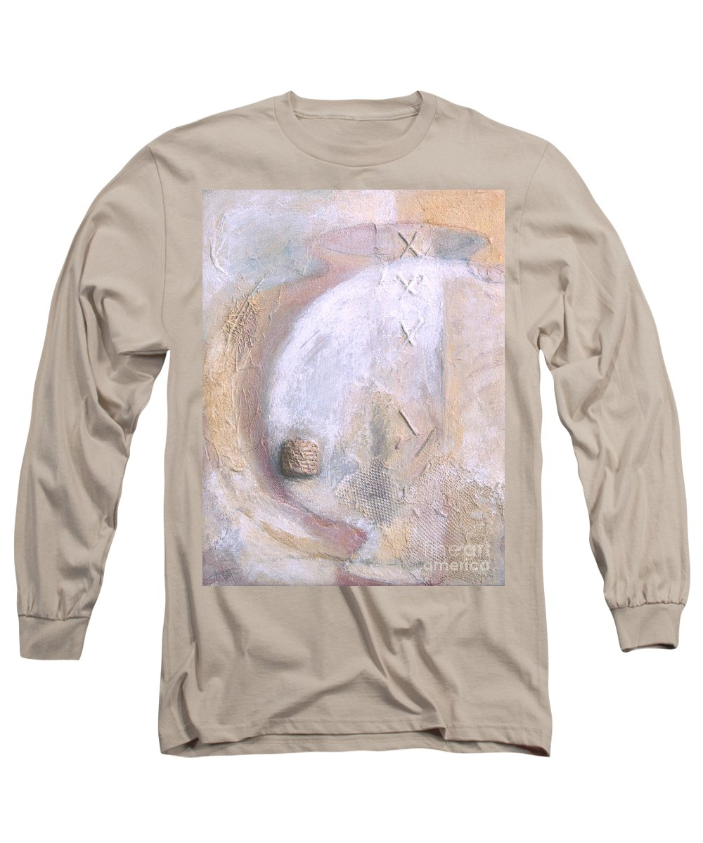 Collage Long Sleeve T-Shirt featuring the painting Give And Receive by Kerryn Madsen-Pietsch