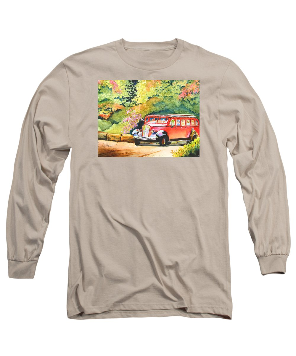 Landscape Long Sleeve T-Shirt featuring the painting Going To The Sun by Karen Stark