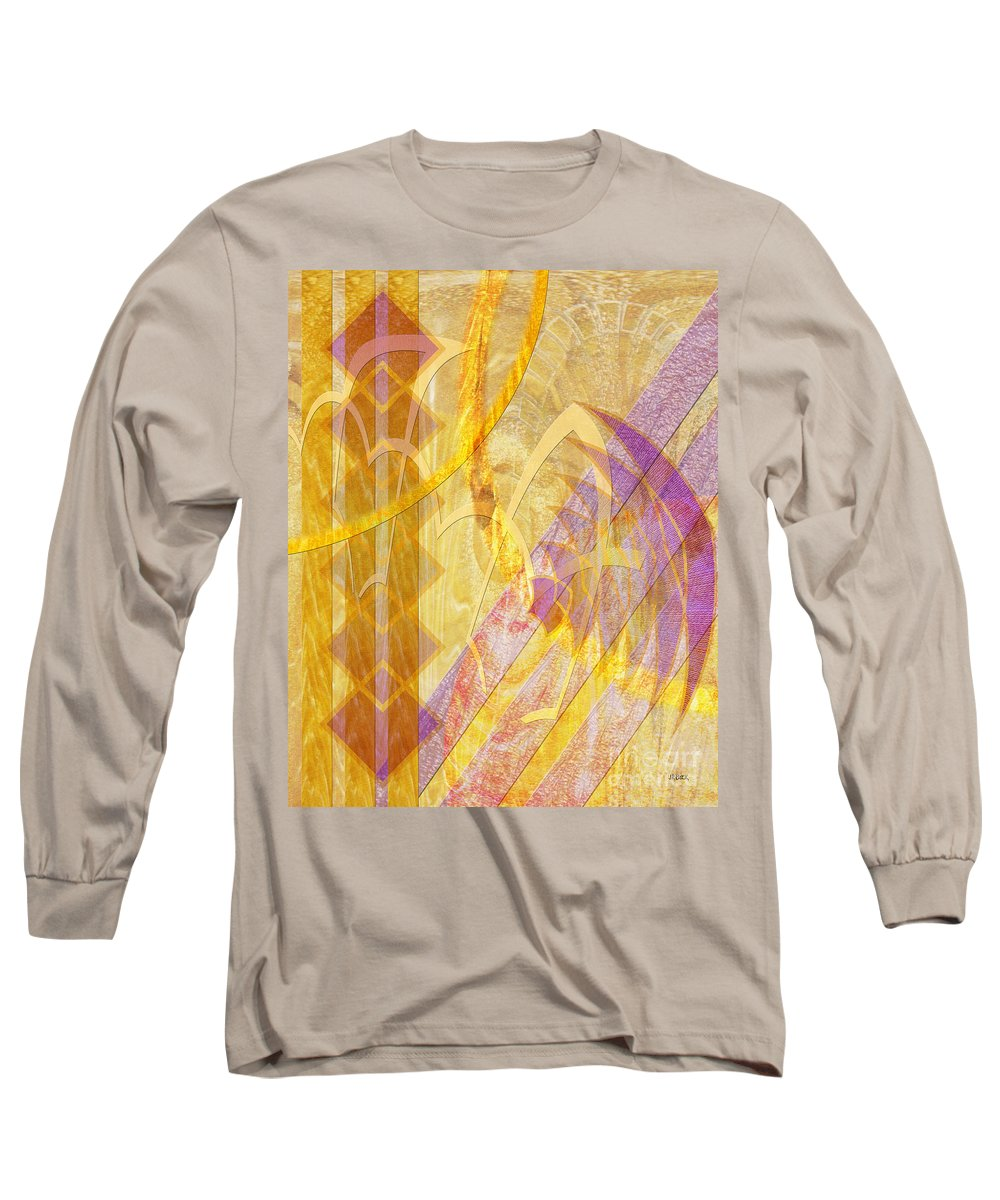 Gold Fusion Long Sleeve T-Shirt featuring the digital art Gold Fusion by John Beck