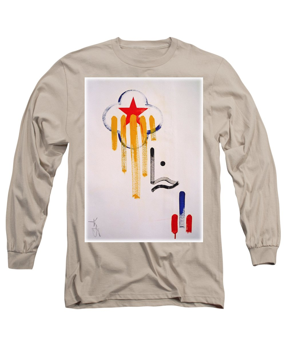 Drawing Long Sleeve T-Shirt featuring the painting Great American Image by Charles Stuart