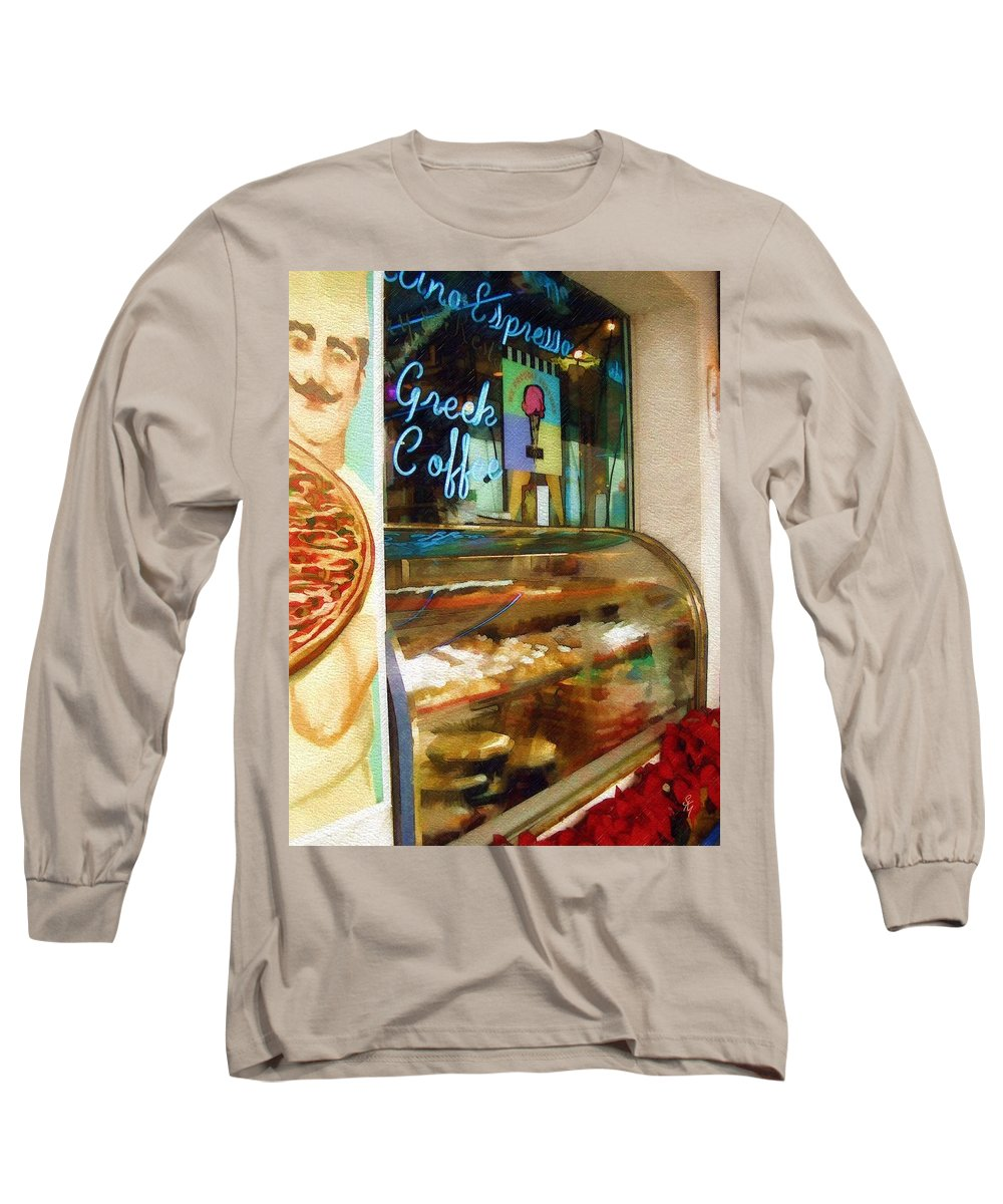 Greek Long Sleeve T-Shirt featuring the photograph Greek Coffee by Sandy MacGowan