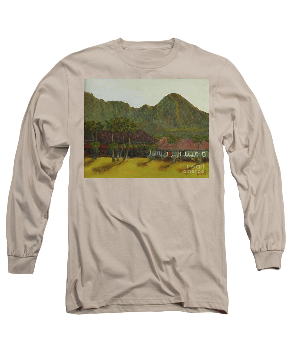 Hanalei Long Sleeve T-Shirt featuring the painting Hanalei by Laura Toth