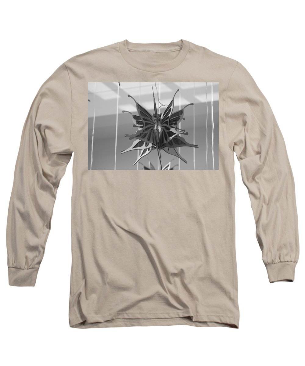 Black And White Long Sleeve T-Shirt featuring the photograph Hanging Butterfly by Rob Hans