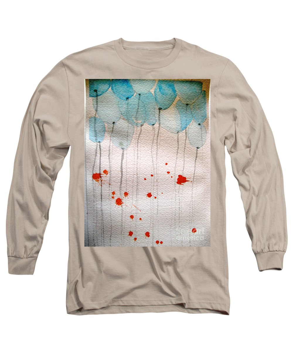 Balloon Celebrate Fun Happy Play Long Sleeve T-Shirt featuring the painting Happy Birthday Katherine by Patricia Caldwell