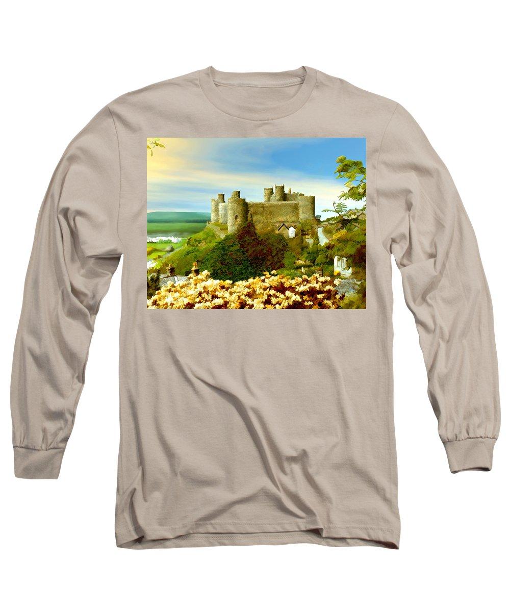 Castles Long Sleeve T-Shirt featuring the photograph Harlech Castle by Kurt Van Wagner