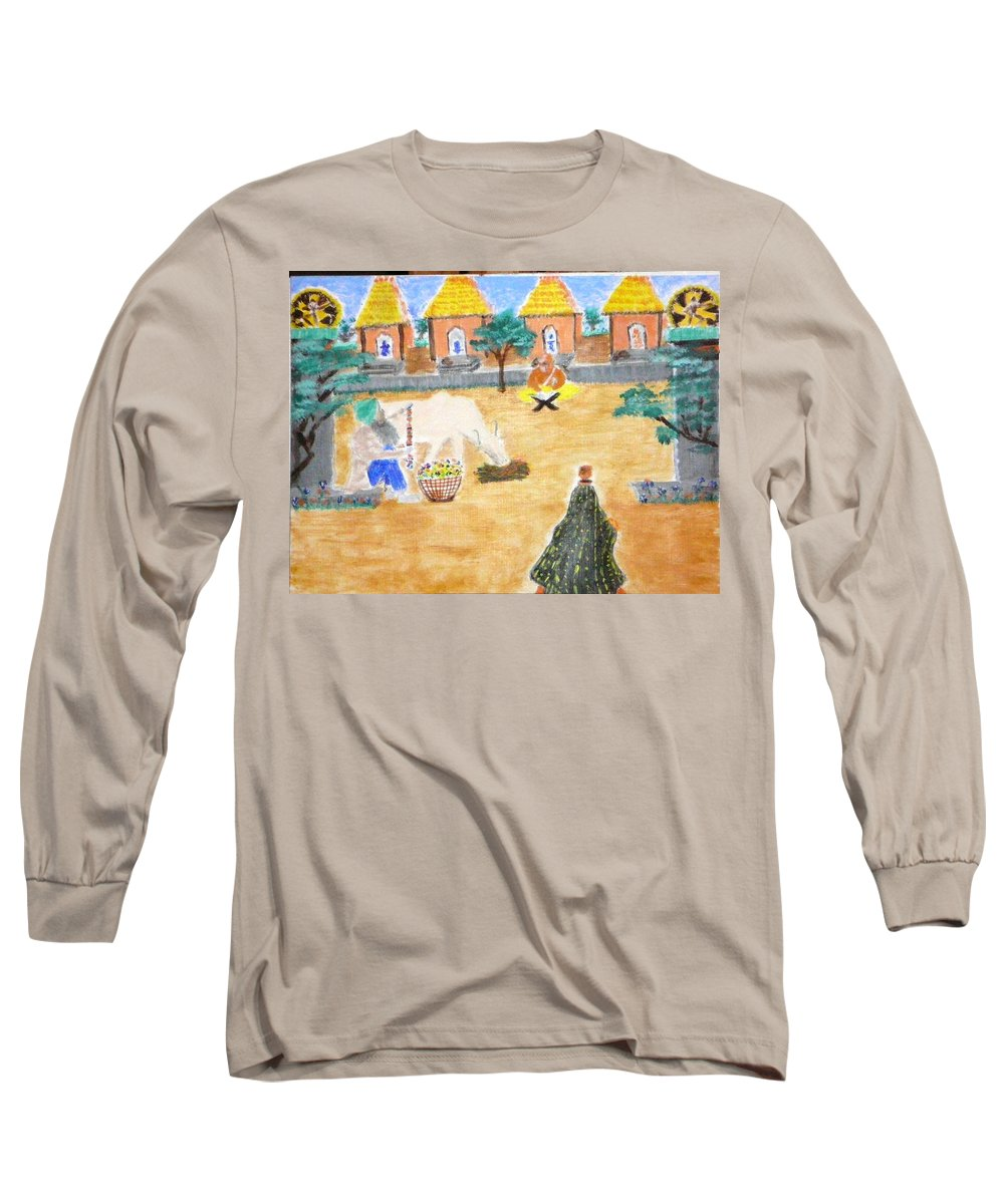 Long Sleeve T-Shirt featuring the painting Harmony by R B
