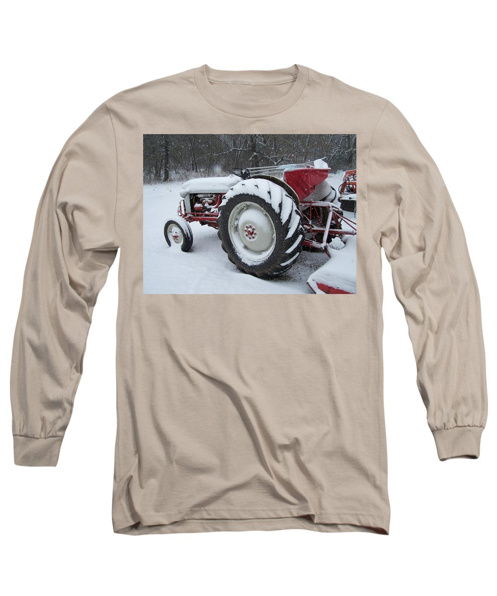 Tractor Long Sleeve T-Shirt featuring the photograph Herman by Gale Cochran-Smith