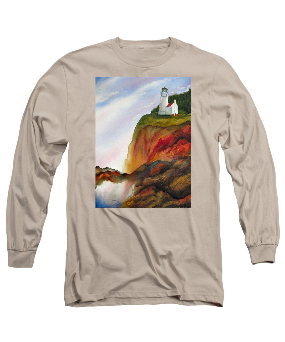 Coastal Long Sleeve T-Shirt featuring the painting High Ground by Karen Stark