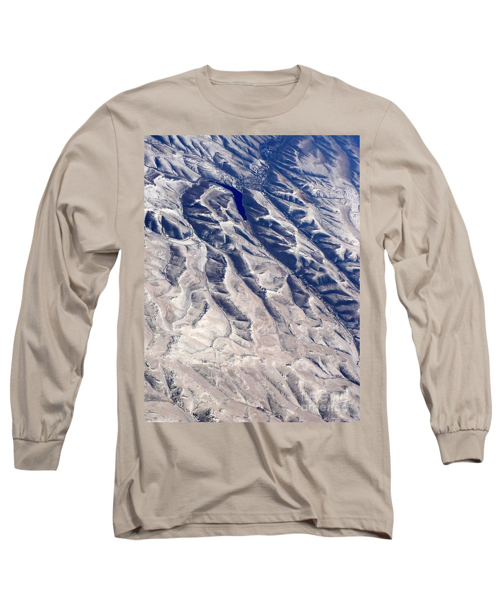 Aerial Long Sleeve T-Shirt featuring the photograph Hills And Valleys Aerial by Carol Groenen
