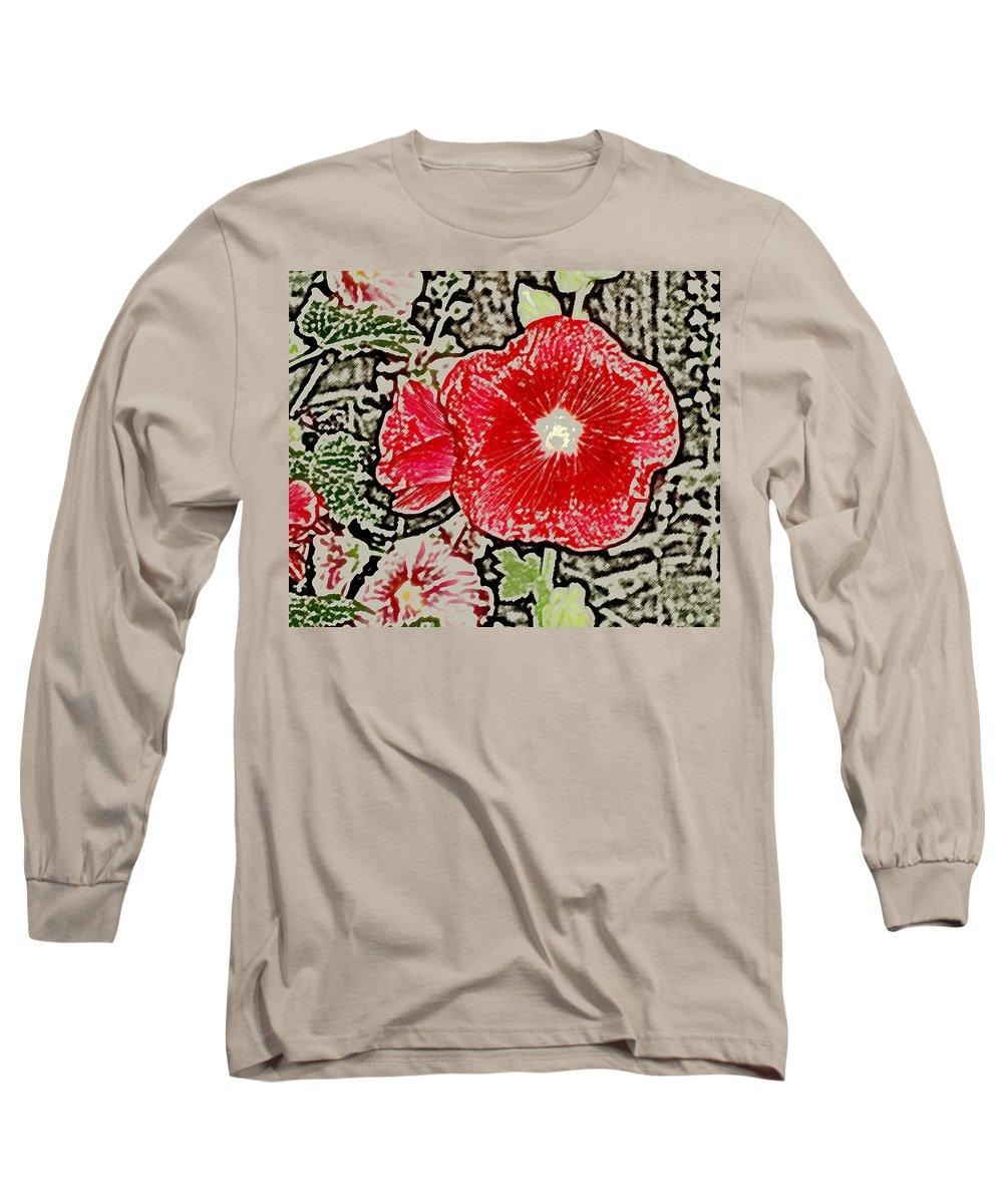 Flower Long Sleeve T-Shirt featuring the photograph Hollyhock by Wayne Potrafka