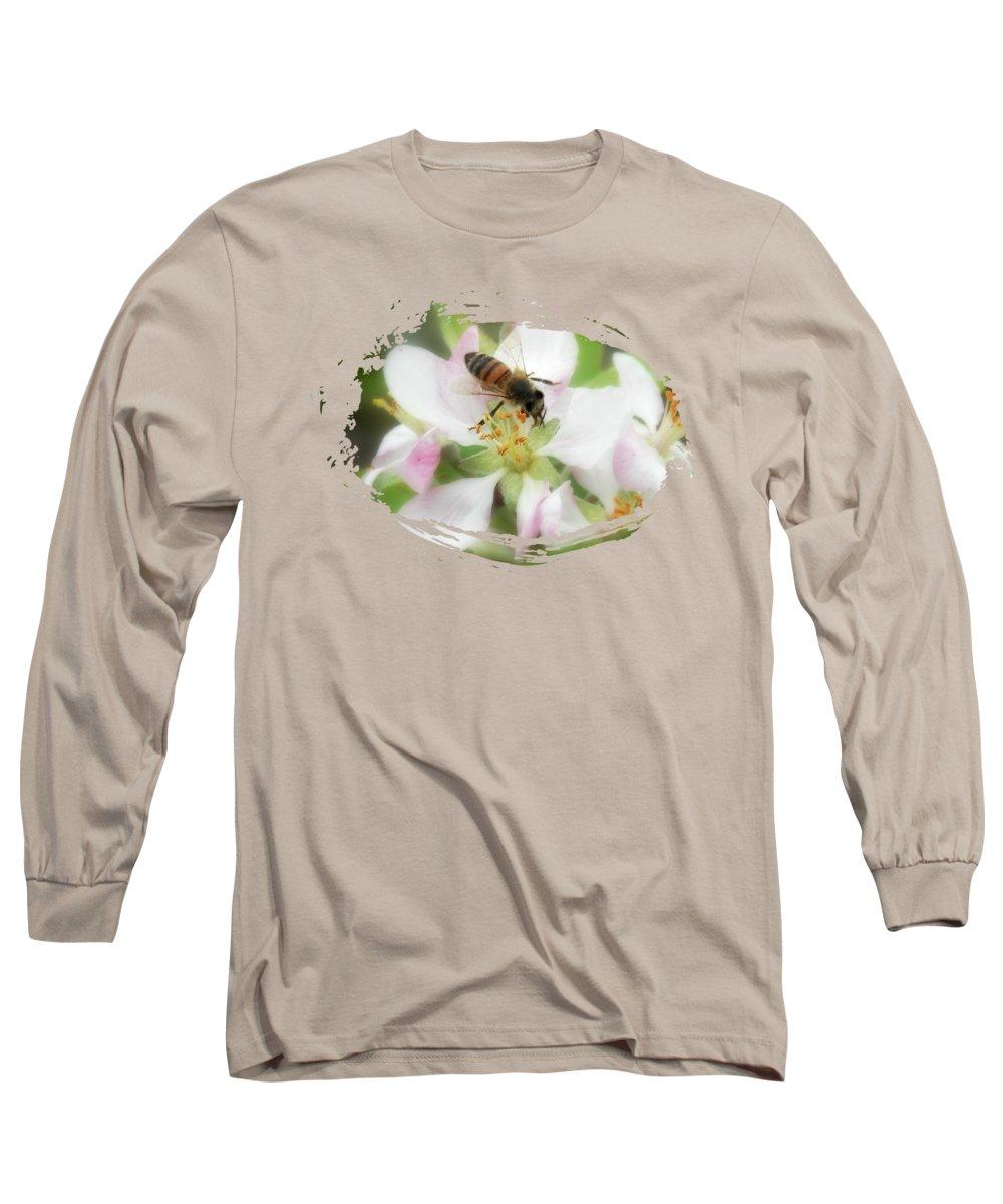 Honey Bee Long Sleeve T-Shirt featuring the photograph Honey Bee by Anita Faye