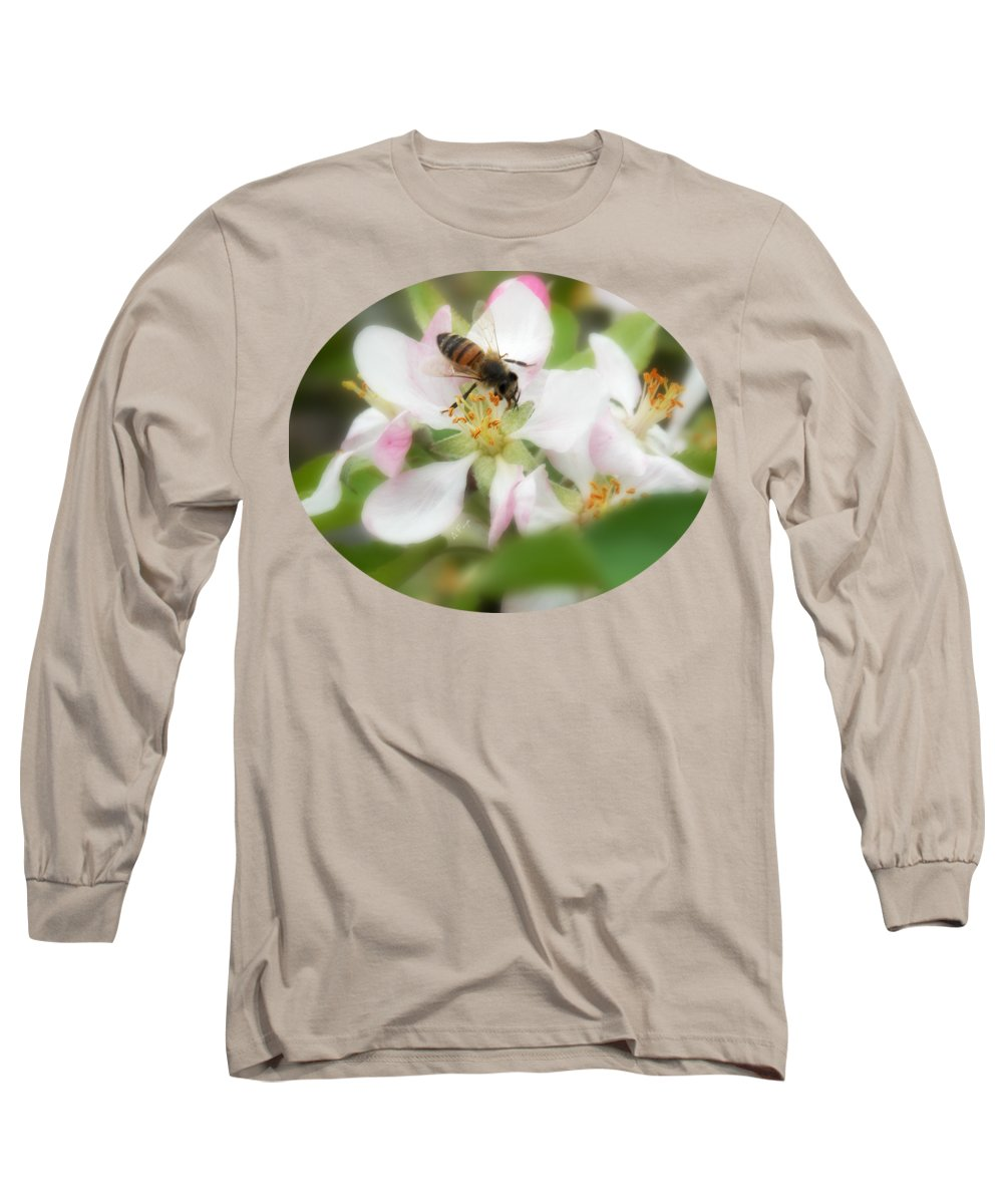 Honey Bee Long Sleeve T-Shirt featuring the photograph Honey Bee - Paint by Anita Faye