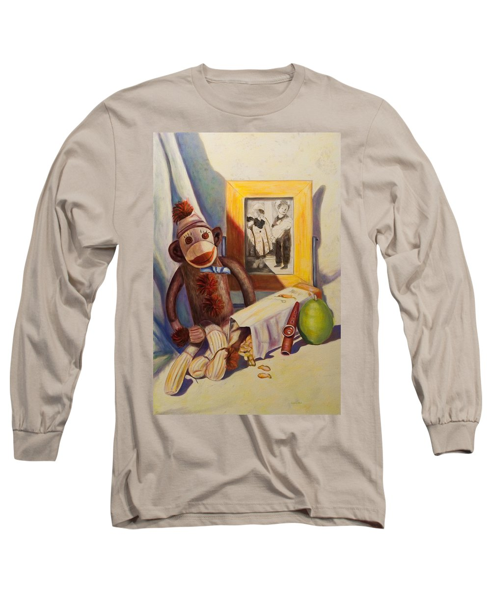 Children Long Sleeve T-Shirt featuring the painting I Will Remember You by Shannon Grissom