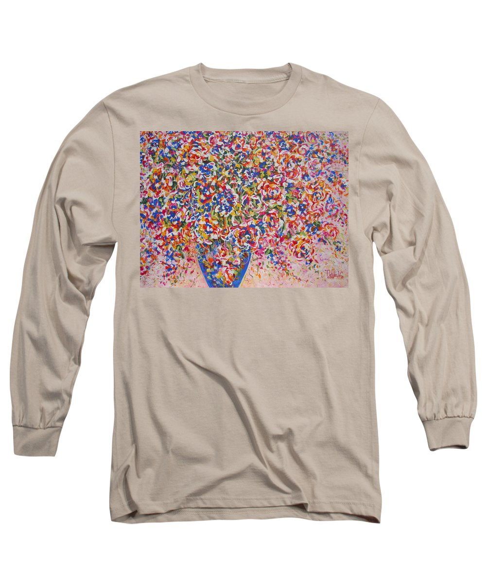 Flowers Long Sleeve T-Shirt featuring the painting Illumination by Natalie Holland