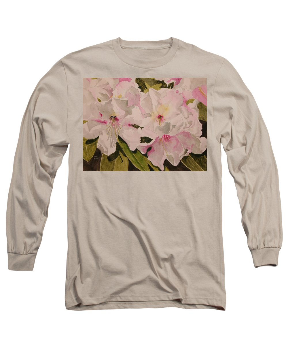 Pink Long Sleeve T-Shirt featuring the painting In The Pink by Jean Blackmer