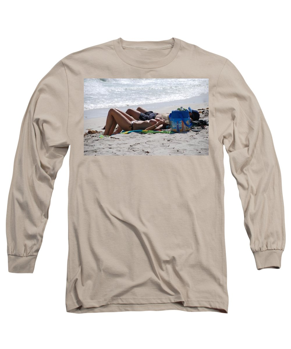 Nude Long Sleeve T-Shirt featuring the photograph In The Sand At Paradise Beach by Rob Hans