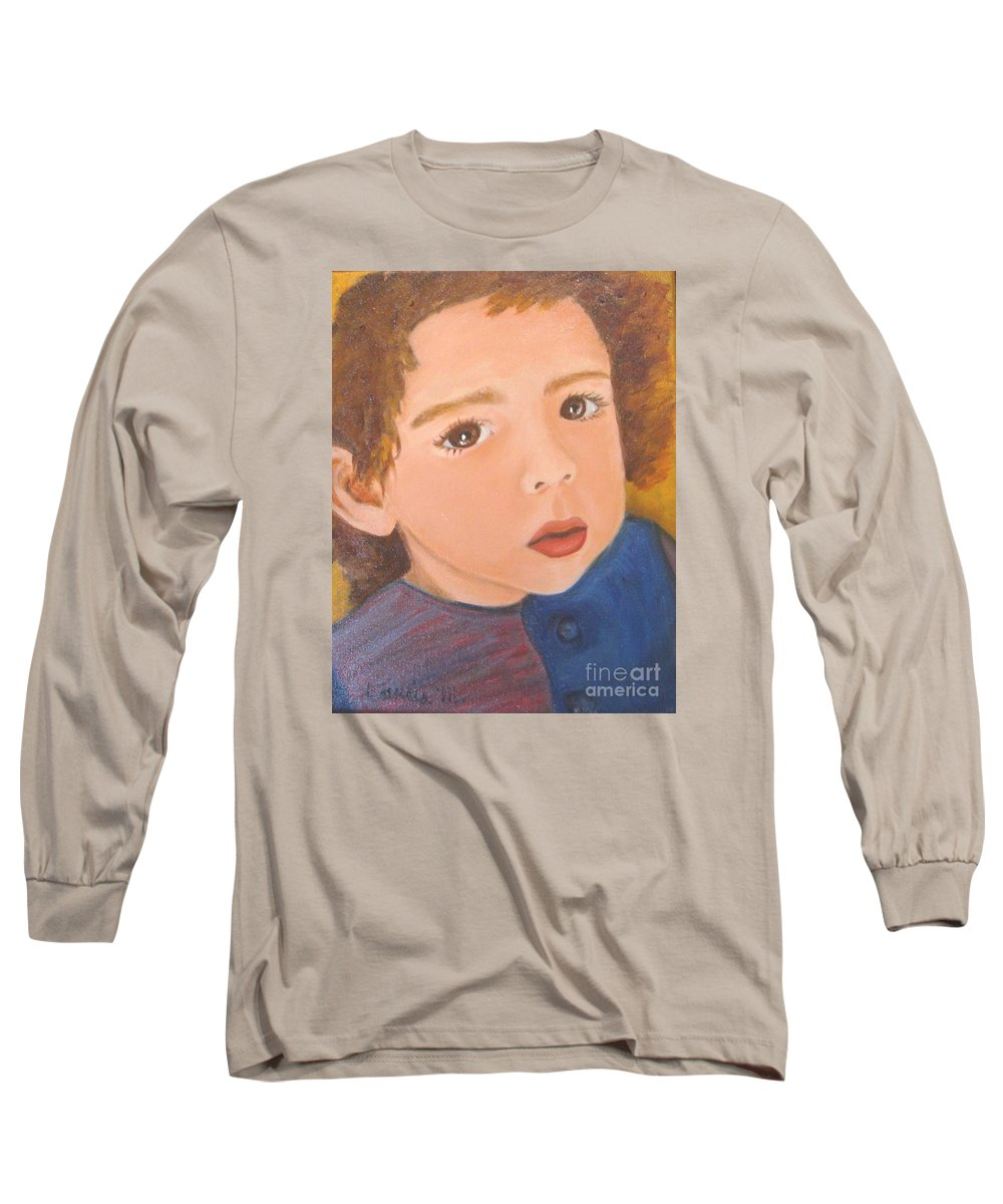 Portrait Long Sleeve T-Shirt featuring the painting Jackson by Laurie Morgan