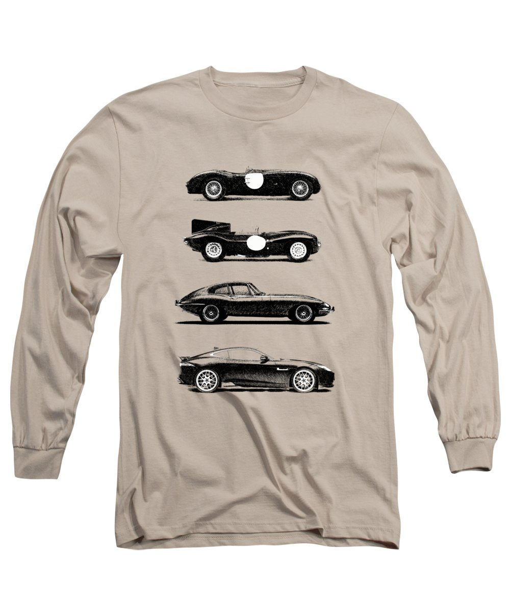 Jaguar E Type Coupe Long Sleeve T-Shirt featuring the photograph Evolution Of The Cat by Mark Rogan