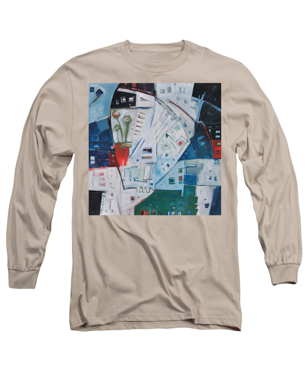 Jazz Long Sleeve T-Shirt featuring the painting Jazz In Bloom by Tim Nyberg