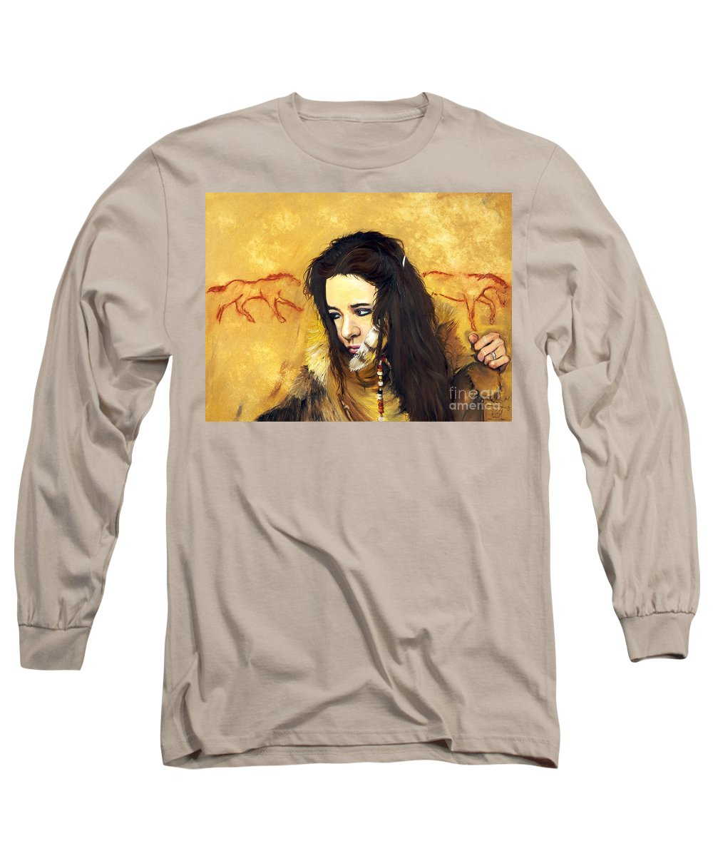 Southwest Art Long Sleeve T-Shirt featuring the painting Journey by J W Baker