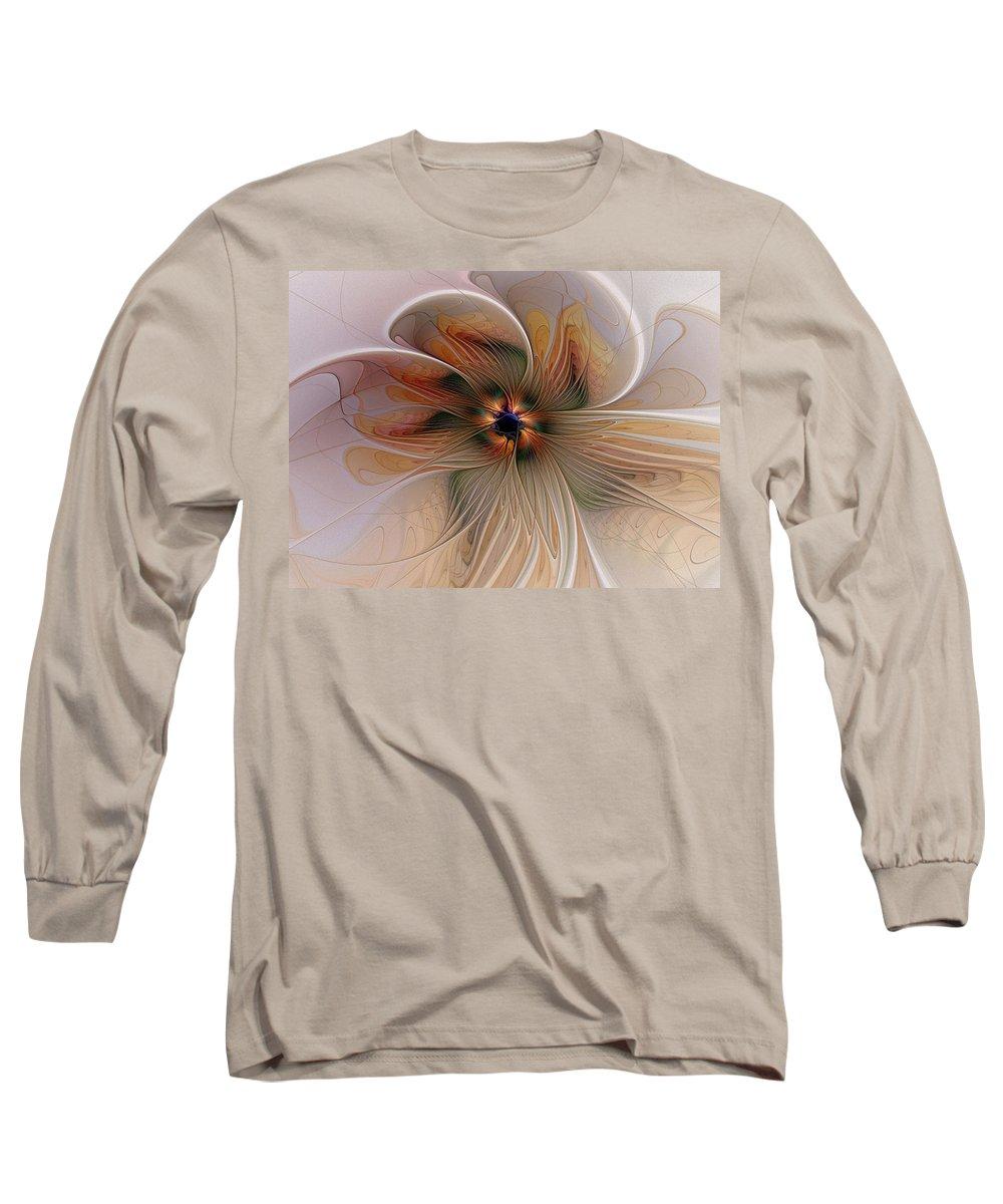 Digital Art Long Sleeve T-Shirt featuring the digital art Just Peachy by Amanda Moore
