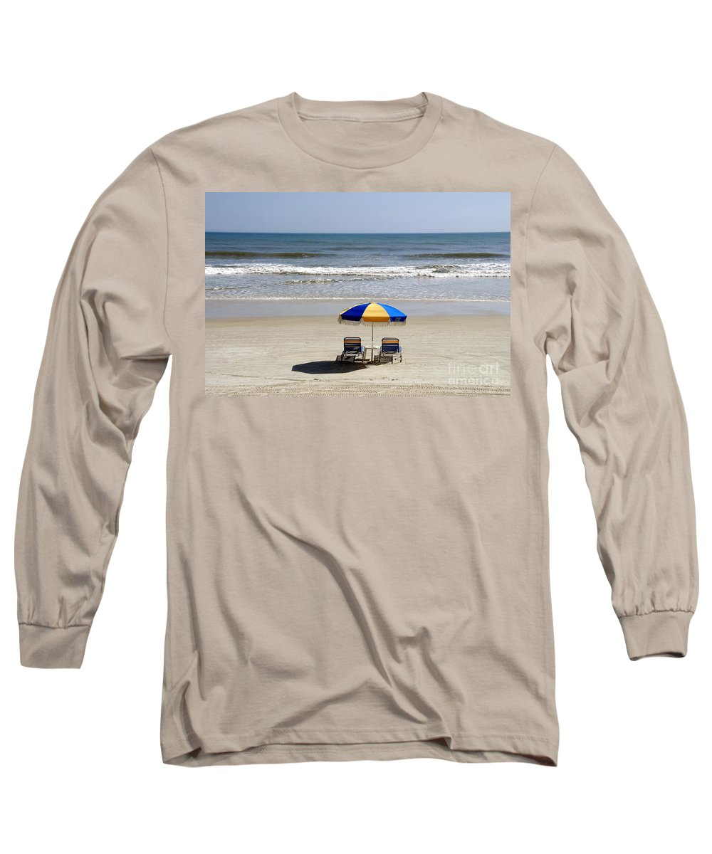Beach Long Sleeve T-Shirt featuring the photograph Just The Two Of Us by David Lee Thompson