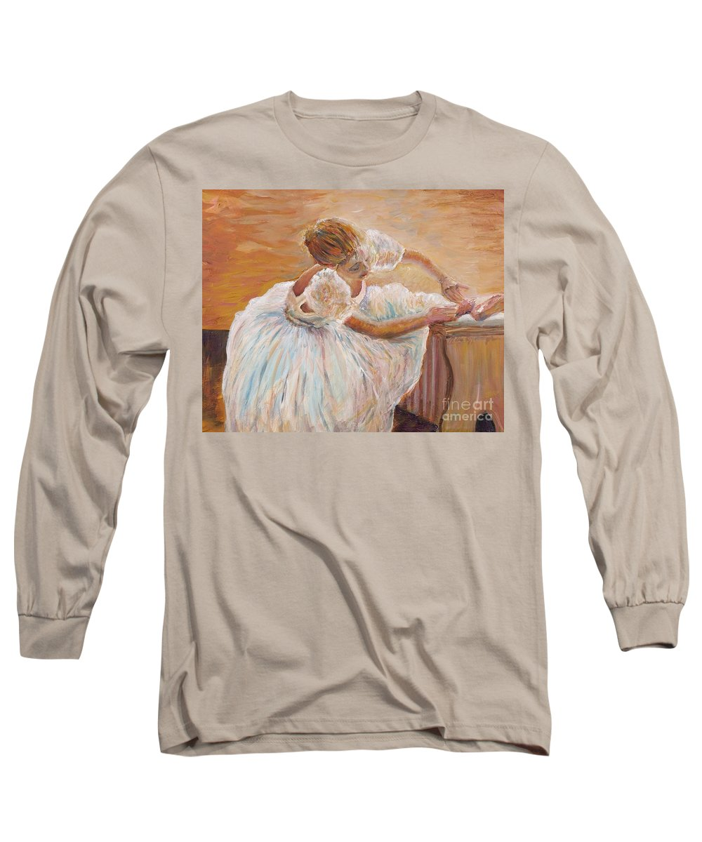 Dancer Long Sleeve T-Shirt featuring the painting Kaylea by Nadine Rippelmeyer