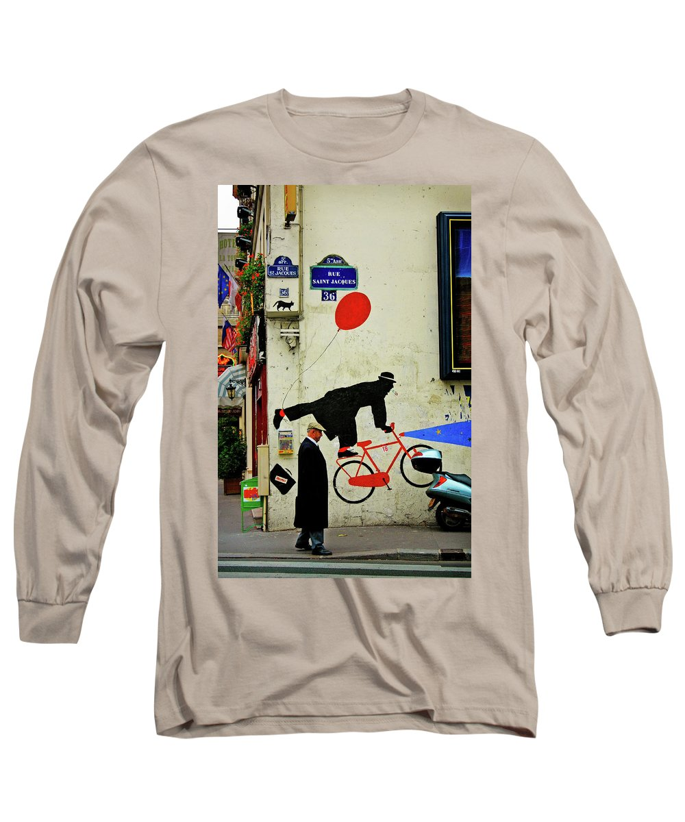 Paris Long Sleeve T-Shirt featuring the photograph Kick In The Head by Skip Hunt