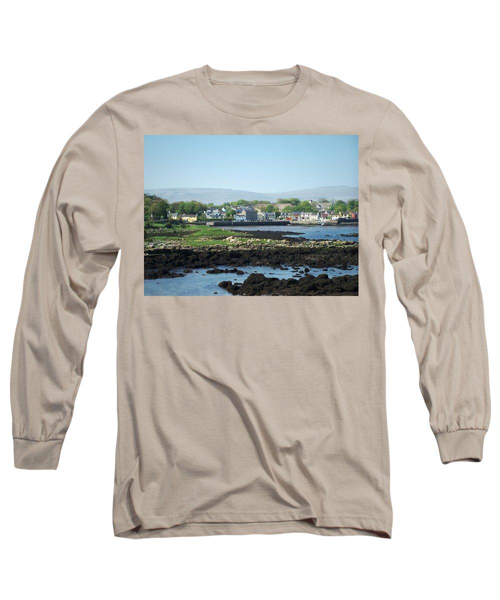 Irish Long Sleeve T-Shirt featuring the photograph Kinvara Seaside Village Galway Ireland by Teresa Mucha