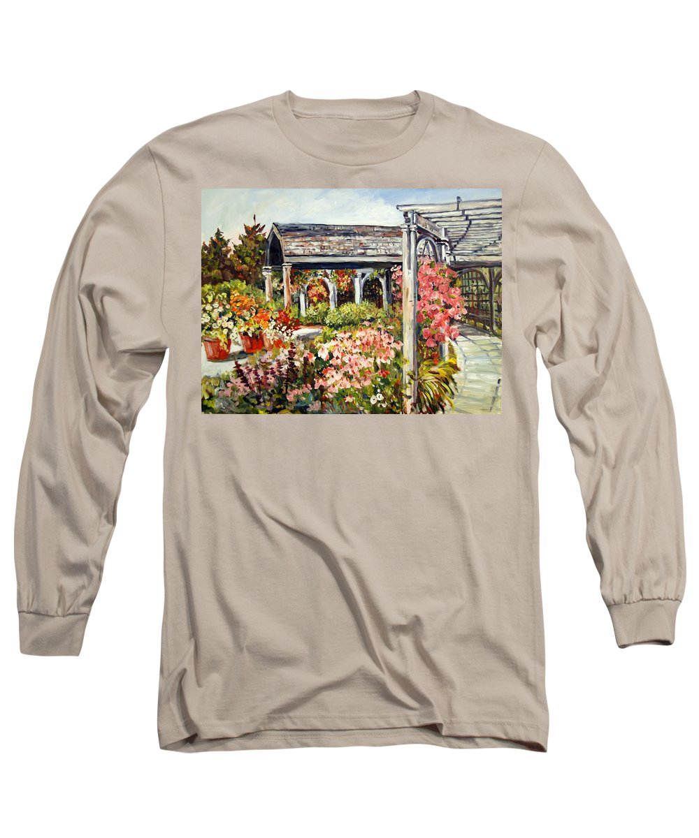 Landscape Long Sleeve T-Shirt featuring the painting Klehm Arboretum I by Alexandra Maria Ethlyn Cheshire