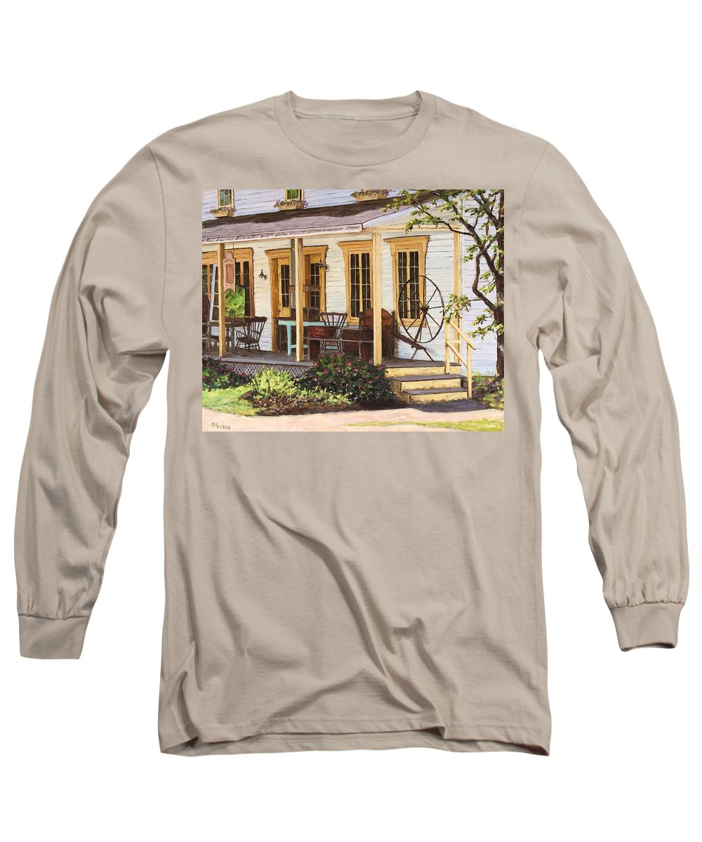 Urban Long Sleeve T-Shirt featuring the painting Knowlton Lac Brome by Richard T Pranke