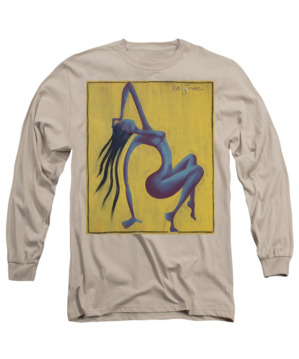 Egypt Long Sleeve T-Shirt featuring the painting Lady Egypt by Kelly Jade King
