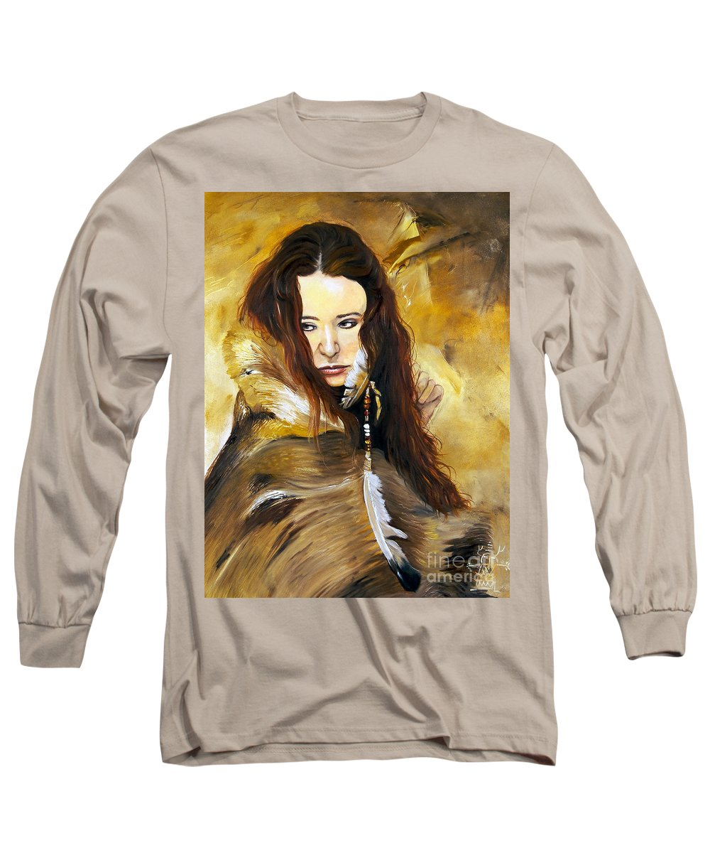 Southwest Art Long Sleeve T-Shirt featuring the painting Lament by J W Baker