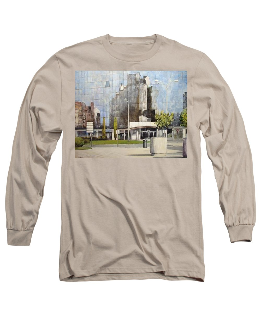 Leon Long Sleeve T-Shirt featuring the painting Leon by Tomas Castano