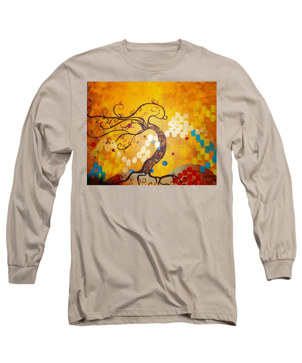 Long Sleeve T-Shirt featuring the painting Life Is A Ball by Stefan Duncan