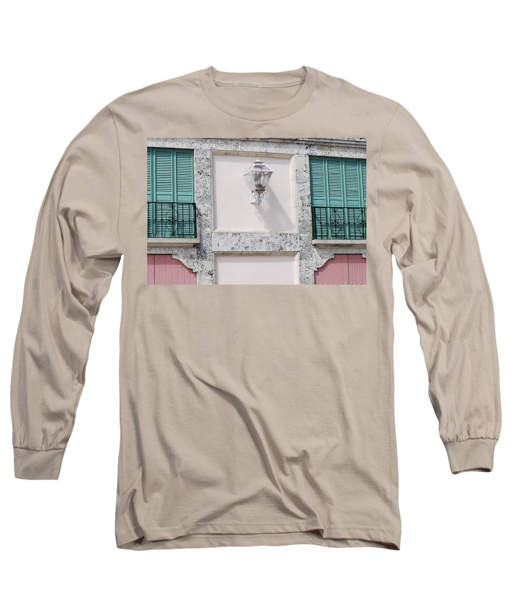 Neon Long Sleeve T-Shirt featuring the photograph Light On The Wall by Rob Hans