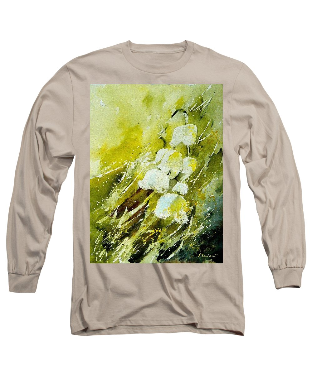 Flowers Long Sleeve T-Shirt featuring the painting Lilly Of The Valley by Pol Ledent