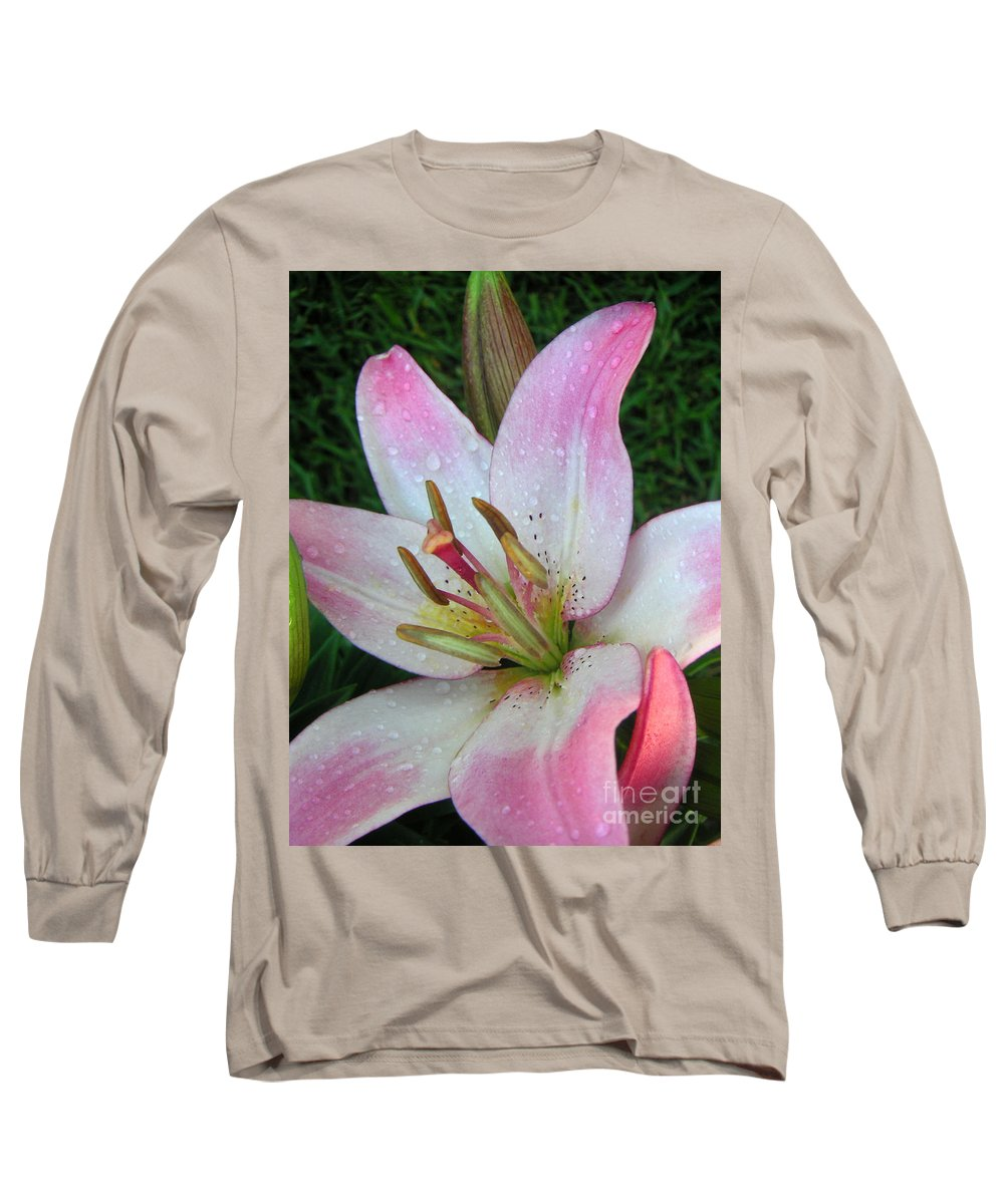 Nature Long Sleeve T-Shirt featuring the photograph Lily Singled Out by Lucyna A M Green