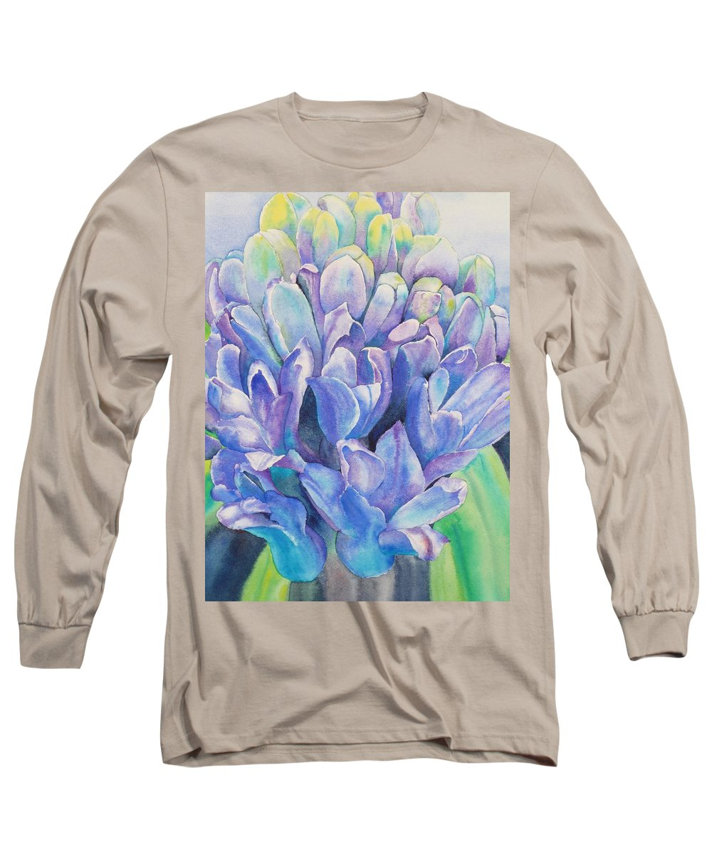 Flower Long Sleeve T-Shirt featuring the painting Lovely Lupine by Ruth Kamenev