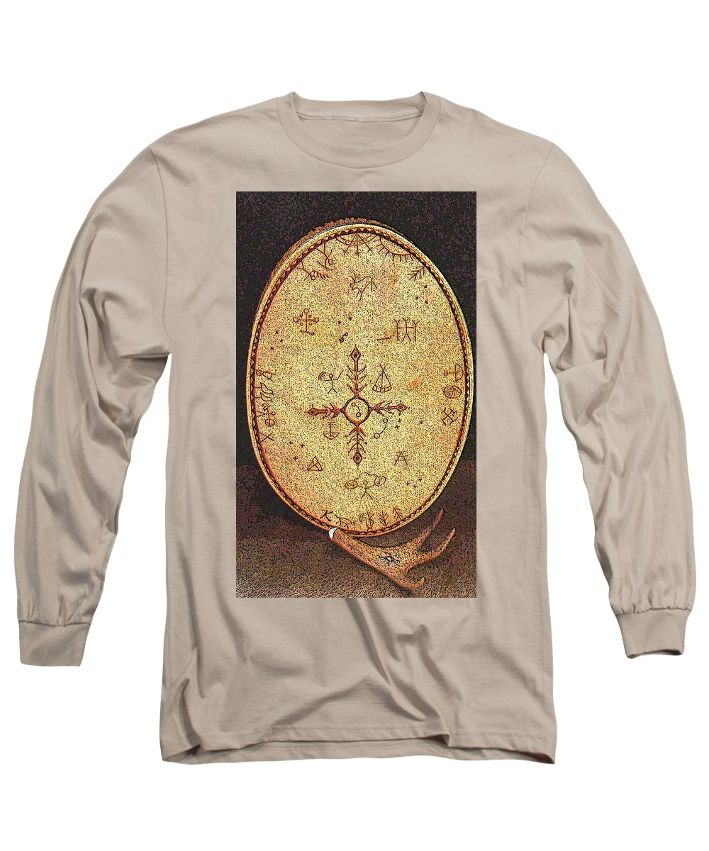 Magic Drum Long Sleeve T-Shirt featuring the photograph Magic Drum by Merja Waters
