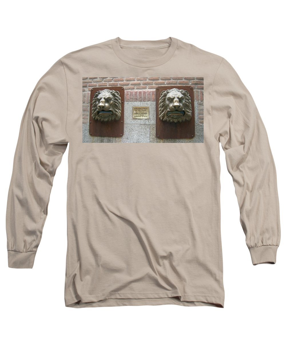 Mailbox Long Sleeve T-Shirt featuring the photograph Mailboxes In Toledo Spain by Valerie Ornstein