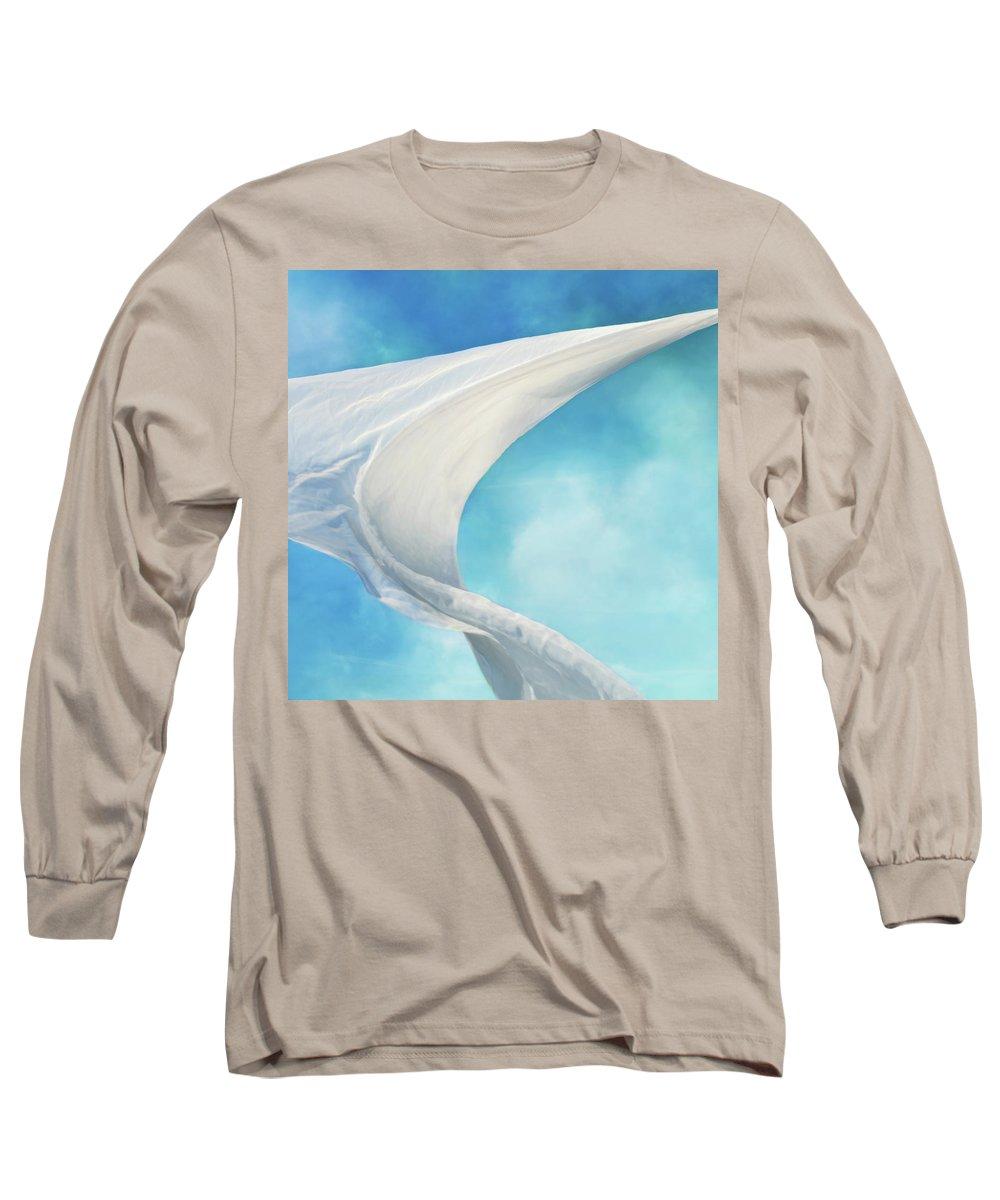 Sailing Long Sleeve T-Shirt featuring the photograph Mainsail by Laura Fasulo