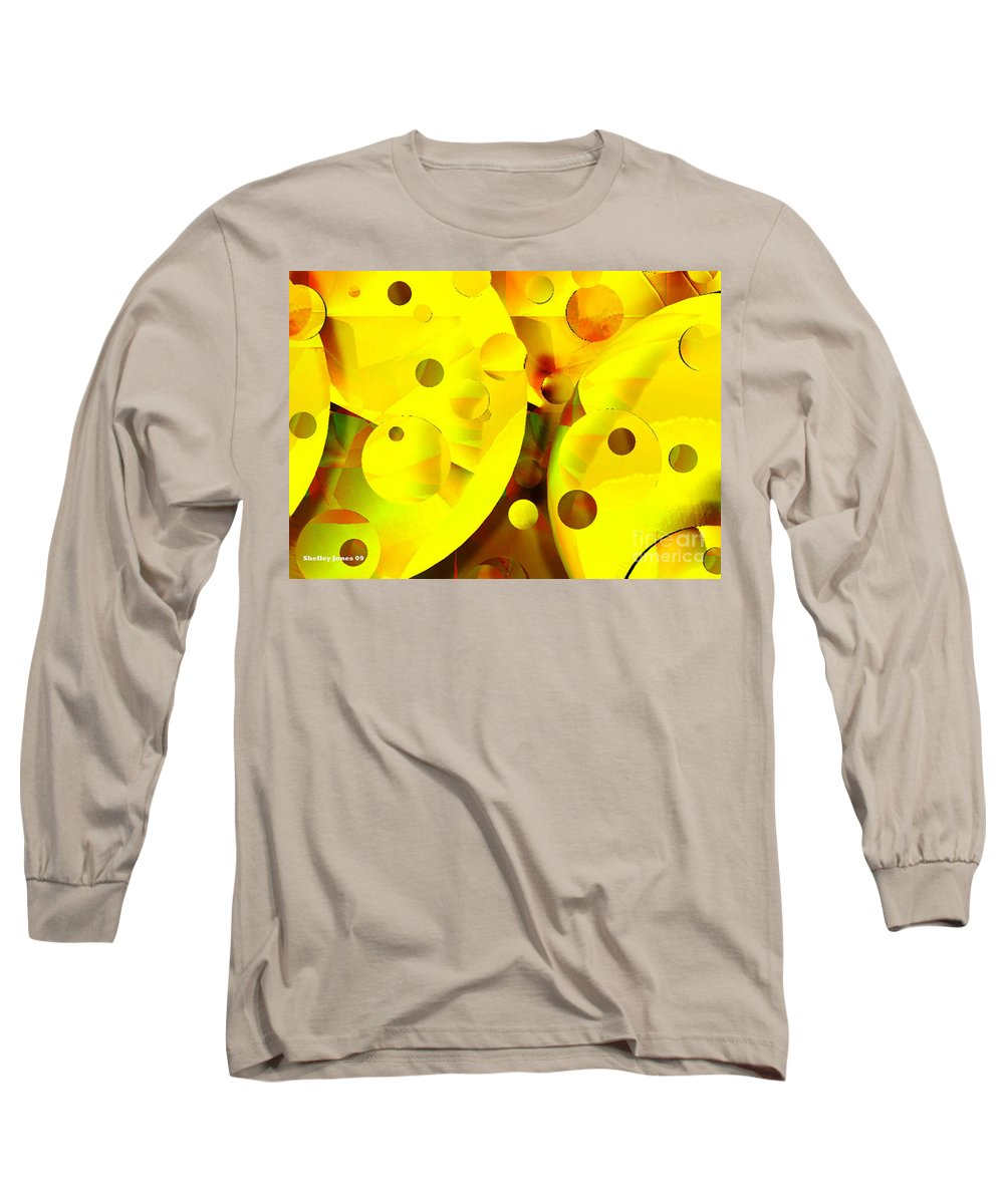 Suns Long Sleeve T-Shirt featuring the digital art Many Suns by Shelley Jones