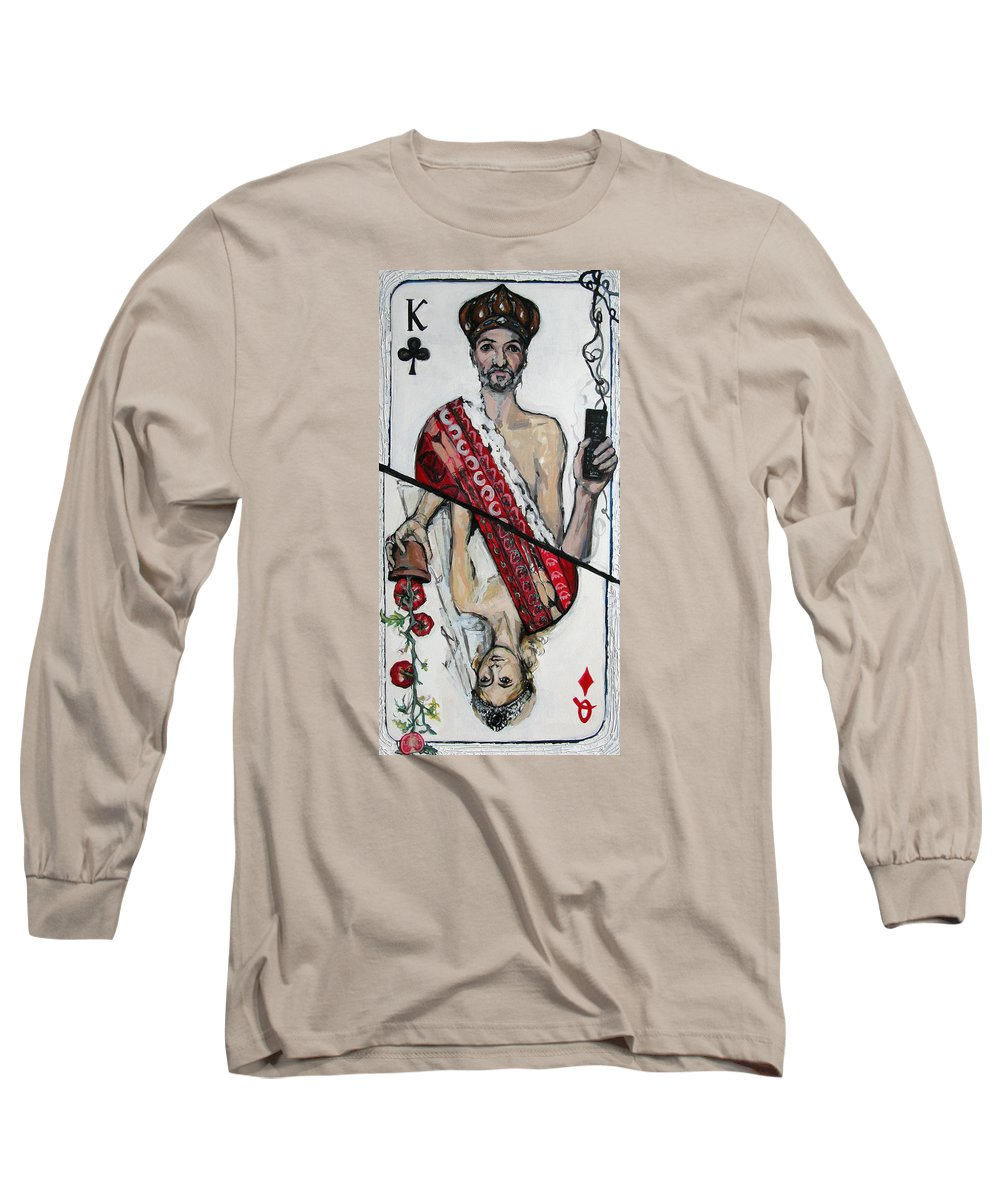 Marriage Long Sleeve T-Shirt featuring the painting Marriage by Mima Stajkovic