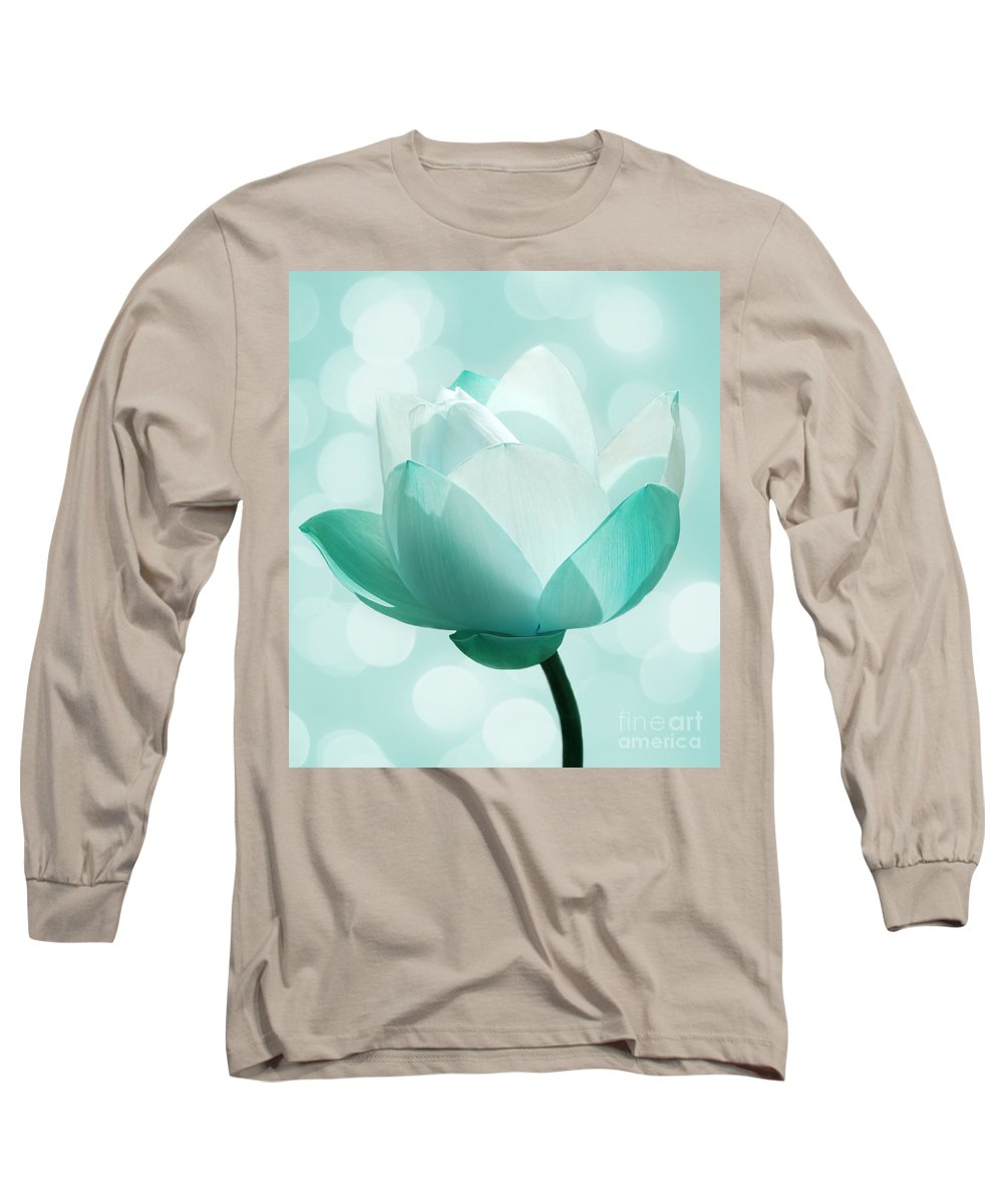 Lotus Long Sleeve T-Shirt featuring the photograph Mint by Jacky Gerritsen